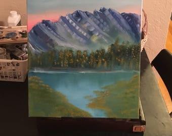 Purple mountain morning