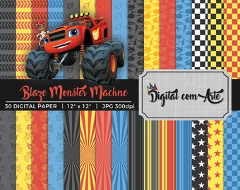 Blaze and the Monster Machine Digital Paper