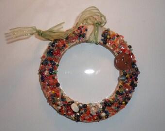 Circular wooden Fridge Magnet