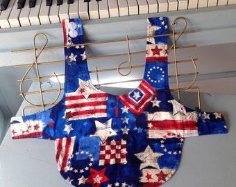 Patriotic Dog vest, Reversible , Memorial day, 4th of July puppy clothes