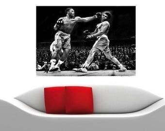 Huge Muhammad Ali vs Joe Frazier Canvas Print BOXING Classic Heavyweight Fight