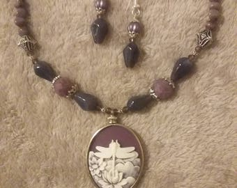 Purple Cameo Set
