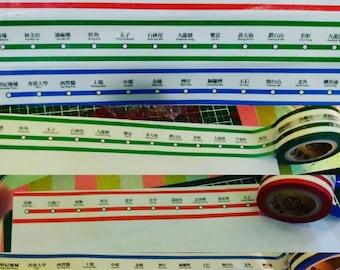 hong kong mtr railway washi tape