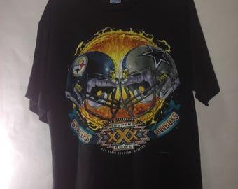Vintage Super Bowl XXX (1995) Cowboys vs. Steelers Nfl Football t-shirt