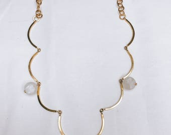 Naomi chain and beads statement necklace