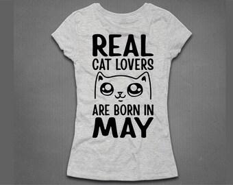 Cat T-Shirt. Cat Lover T-Shirt. Cat Lovers Born in May.
