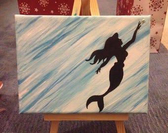 Disney Silhouette Canvas 6 x 8 BLUE