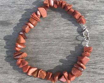 Goldstone Bracelet – Healing Stone Bracelet – Protector – Energy Bracelet