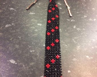 New Elegant Beaded Tie