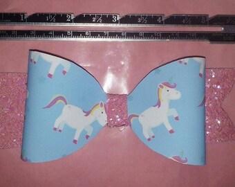 Extra Large single unicorn bow