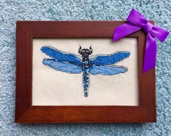 Cross Stitch - Dragonfly and Butterfly (finished)
