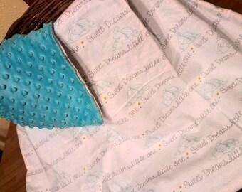 Sweet Dreams Little One Dumbo-Minky Baby Blanket