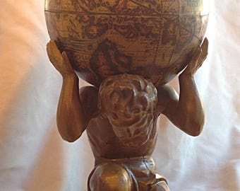 Lamp Lampshade deco kitsch great vintage very RARE - Atlas 77 cm