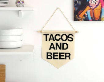 Tacos and Beer Pennant