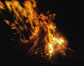 Nature Photography - Camp Fire by Justin Bromberg