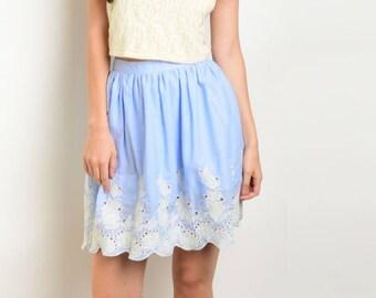 Blue Petals Skirt