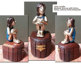 Bronze Sculpture from Little Girl Series Titled: Camille