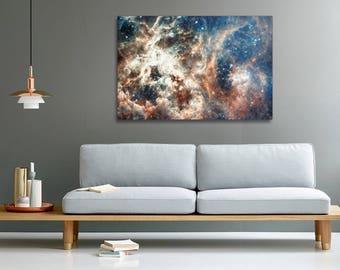 Star-forming region photo print on canvas