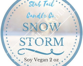 Oopsey-Daisy Limited Edition 8 oz Snowstorm Tin - Scented Soy Candle Inspired by Roar