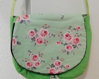 Circle bag, shoulder bag handbag, color mix,.