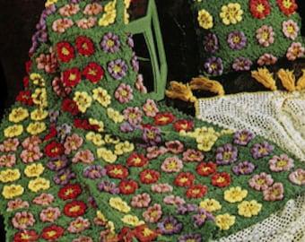 Daisy Ring Doily Pattern #12-60, Daisy Crochet Pattern, Flower, Vintage Pattern