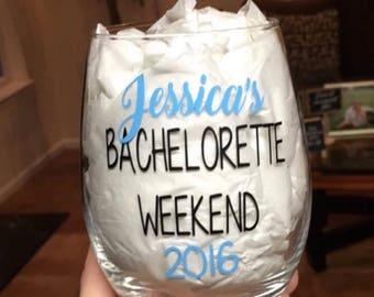 Bachelorette weekend. Bachelorette wine glass. Bachelorette party. Bachelorette party wine glass. Bachelorette party ideas. Bachelorette