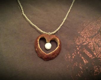 Hand-carved Avocado Seed Necklace
