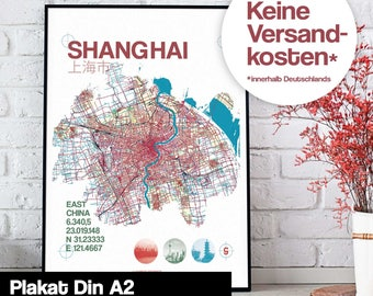 Poster - Shanghai map map