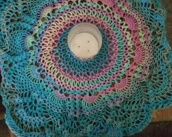 Lg handmade crochet doily