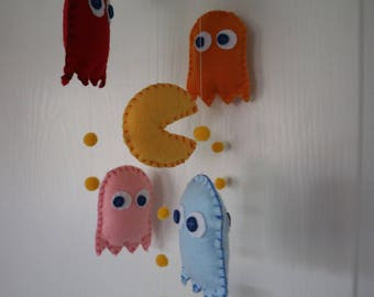 Pacman Baby Mobile