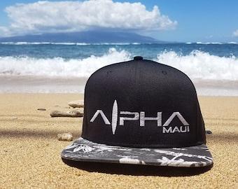 Alpha Maui flat Snapback urban-surf hat.
