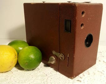 Kodak 1930s vintage box camera. Decore for home, wedding or party.