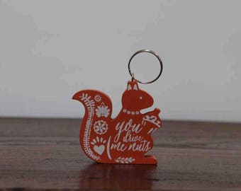 Red Squirrel Formby Keychain