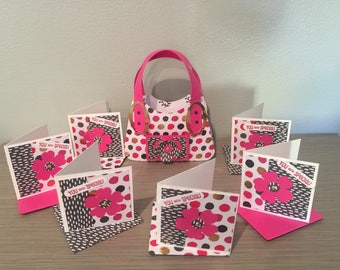 Sweetheart Paper Purse with 6 Note Cards