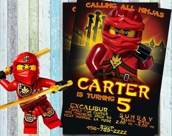 Ninjago Lego, Ninjago Invitation, Ninjago Birthday invitation , Ninjago Party, Lego Ninjago, Ninjago Printable, Lego
