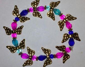 Multi Color Angel Bead Bracelet