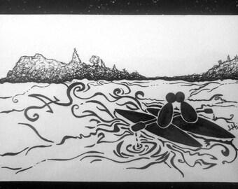 Kayak Kiss Card