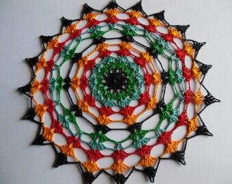 """Gisele"" round crochet doily"