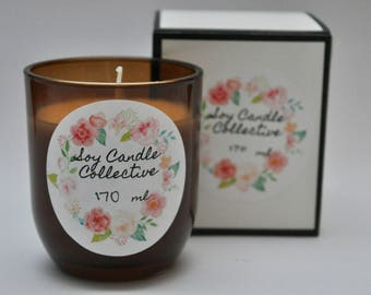 Sweet Pea Vanilla - Small Soy Candle