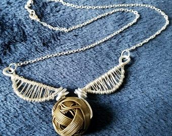 Golden Snitch necklace