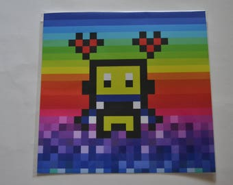 Pixel Art print [Robbie]