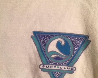 hipster surf club crop top
