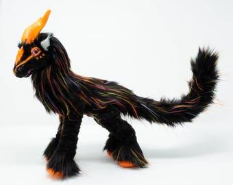 Poseable art doll - handmade - art doll animal - OOAK - Fantasy creature - woodland creature - mystical creature -original - sculpture