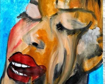 100% handmade water oil 24×35 cm,portrait