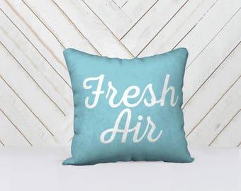 Fresh Air Throw Pillow Cover