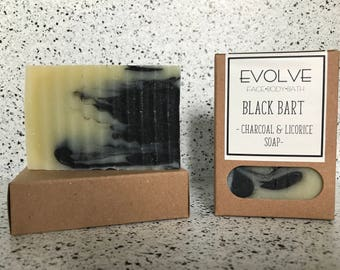 Black Bart - Charcoal and Licorice Bar Soap