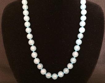Jade necklace-aquamarine