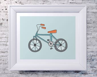 Illustrated Bicycle Print