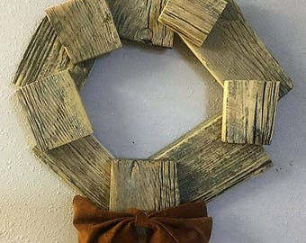 Barn Wood Wreath
