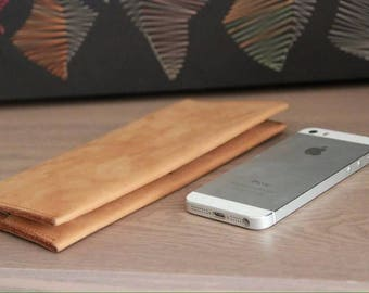 PDF leather long wallet
